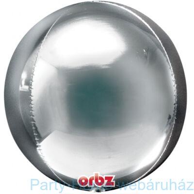 Ezüst - Silver Orbz Fólia Lufi
