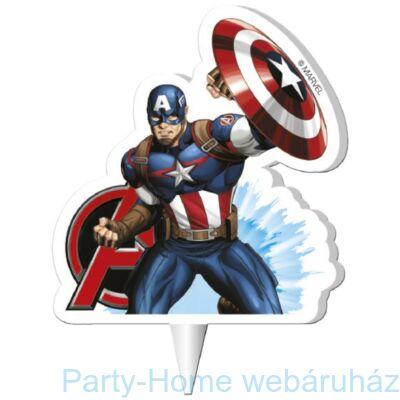 Bosszúállók Amerika Kapitány- Marvel Avengers Cap. America 2D Gyertya