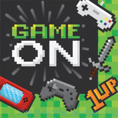 Gaming Party - Minecraft Parti Szalvéta - 33 cm x 33 cm, 16 db-os