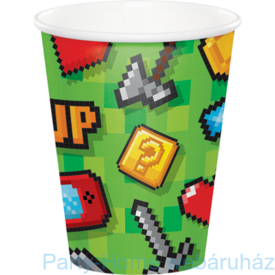 Gaming Party - Minecraft Parti Pohár - 266 ml, 8 db-os