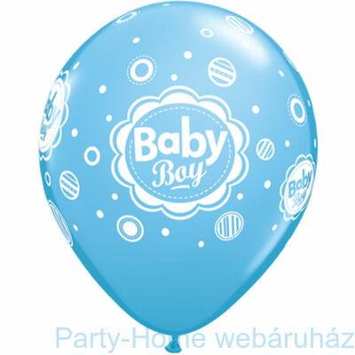 Baby Boy Dots Pöttyös Lufi Babaszületésre