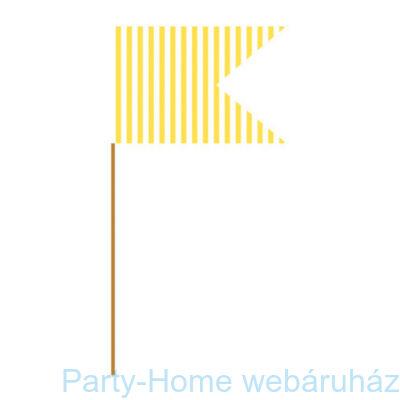 Muffin / Szendvics  beszúró, sárga 24 db-os