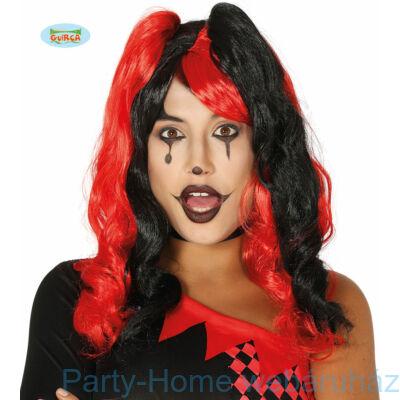 Piros - Fekete Harlequin Paróka