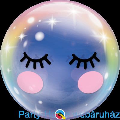 22 inch-es Szempilla Mintás Unikornis - Eyelashes Unicorn Bubble Lufi