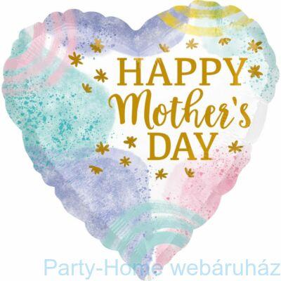 18 inch-es Happy Mother's Day Anyák-napi Szív Fólia Lufi