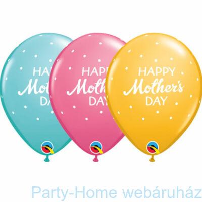 11 inch-es Mother's Day Petite Polka Dots Anyák Napi Lufi 1 db.