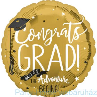17 inch-es Gold Congrats Grad Ballagási fólia lufi