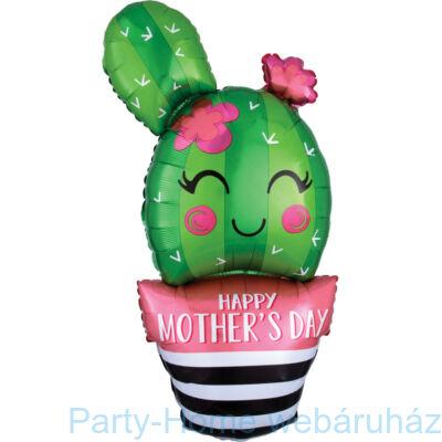 35 inch-es Kaktusz - Happy Mother's Day Cactus Super Shape Anyák-napi Fólia Lufi