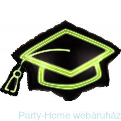 31 inch-es Congratulations Grad Cap Neon Fólia Lufi Ballagásra