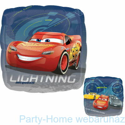 17 inch-es Cars 3 - Lightning McQueen and Friends Kétoldalú Fólia Léggömb