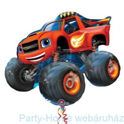 Láng és a Szuperverdák (Autó, Kocsi) Super Shape Fólia Léggömb