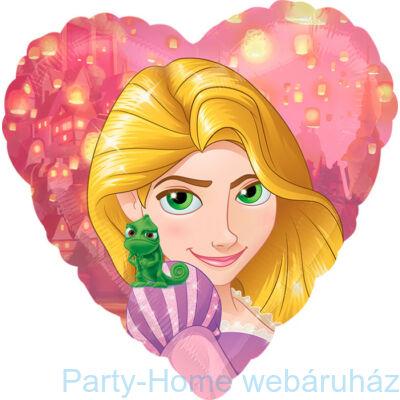 17 inch-es Rapunzel Heart - Aranyhaj Szív Fólia Léggömb