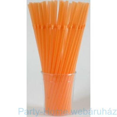 Színes parti szívószál narancssárga színben 25db
