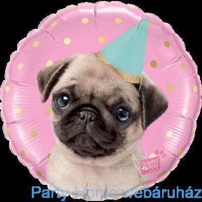 mopsz boldog szülinapot 18 inch es Studio Pug   Party Mopsz Fólia Lufi   Szülinapos Happy  mopsz boldog szülinapot
