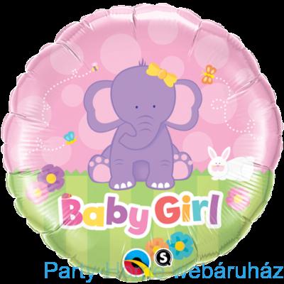 18 inch-es Baby Girl Elephant Fólia Lufi