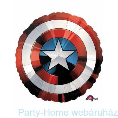 28 inch-es Amerika Kapitány Pajzs - Avengers Shield Fólia Lufi