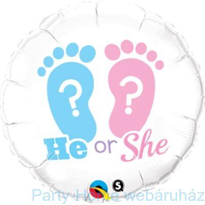 18 inch-es He or She? Footprints Fólia Lufi