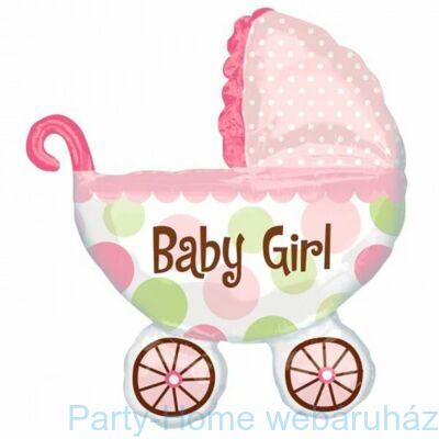 Baby Buggy Girl - Kislányos Super Shape Fólia Lufi Babaszületésre