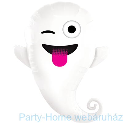 34 inch-es Emoticon Ghost Halloween Fólia Lufi
