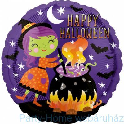 17 inch-es Happy Halloween Boszorkány Főzet Fólia Lufi