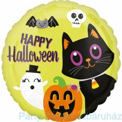17 inch-es Happy Halloween Arcok Fólia Lufi