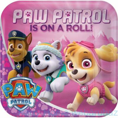 Paw Patrol Girl Party Tányér - 23 cm, 8 db-os