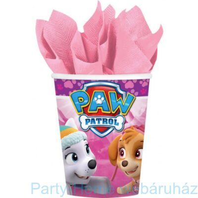 Mancs Őrjárat Skye- Paw Patrol Girl Party Pohár - 266 ml, 8 db-os