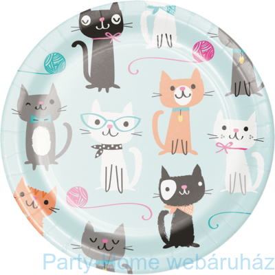 Bohém Macskák Party kistányér 18 cm 8db