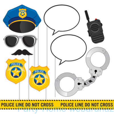 Police Party - Rendőr parti kiegészítő szett fotózáshoz, 10 db-os
