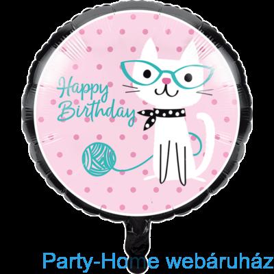 Bohém Macskák Party Fólia lufi 18-inch