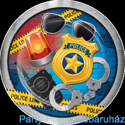 Police Party - Rendőr Parti Tányér - 23 cm, 8 db-os