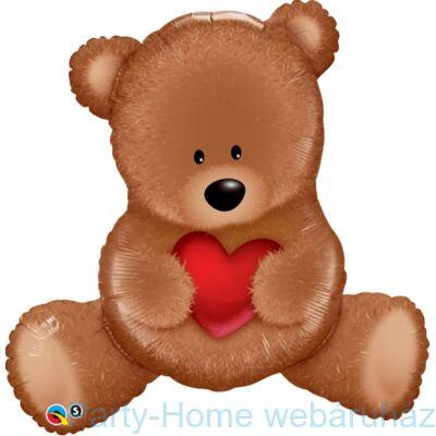 35 inch-es Teddy Bear Szerelmes Super Shape Fólia Lufi