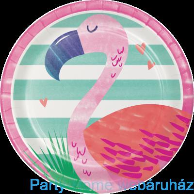 Flamingó & Ananász Party Kistányér - 18 cm, 8 db-os