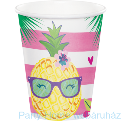 Ananász cocktail parti pohár 256 ml 8db