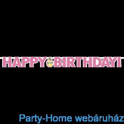 Flamingó & Ananász Party Happy Birthday Girland - 3 m