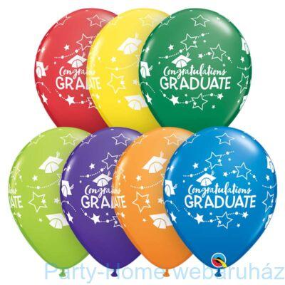 11 inch-es Congratulations Graduate Stars Carnival Ast. Ballagási Lufi