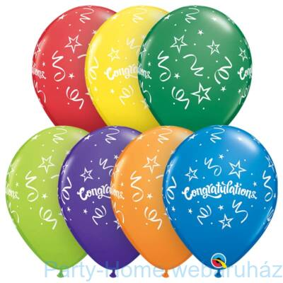 11 inch-es Congratulations Streamers Carnival Assortment Lufi