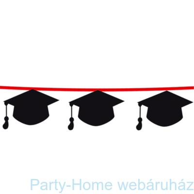 Diplomaosztó Ballagó Kalapos Dekoráció Füzér Ballagásra - 3,6 m