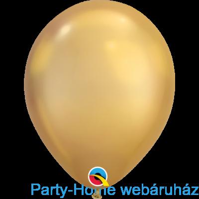 11 inch-es Chrome Gold - Arany Kerek Lufi 1 db