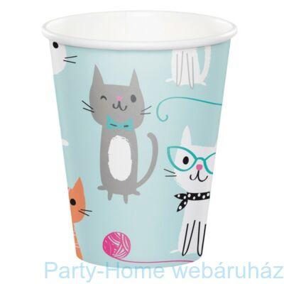 Bohém Macskák Party Pohár - 256 ml, 8 db-os