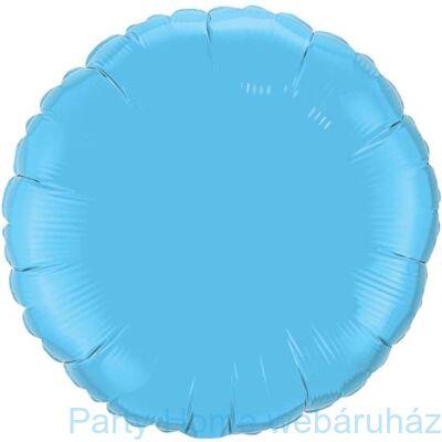 18 inch-es Pale Blue - Tengerkék Kerek Fólia Lufi