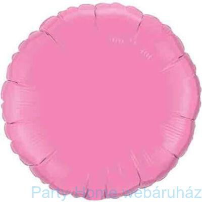 18 inch-es Rose - Rózsaszín Kerek Fólia Lufi