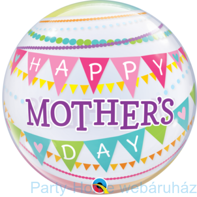22 inch-es Mother's Day Pennants Anyák Napi Bubble Lufi
