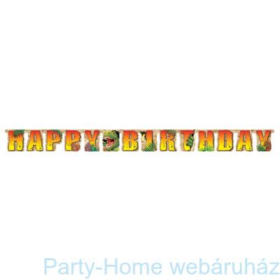 Dinoszaurusz parti Happy Birthday girland 2,4 m