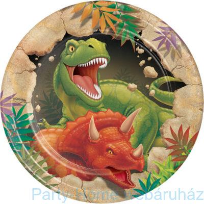 Dinoszaurusz parti tányér 18 cm 8 db