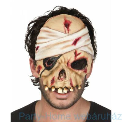 Ijesztő Zombie Latex Maszk Halloween-ra