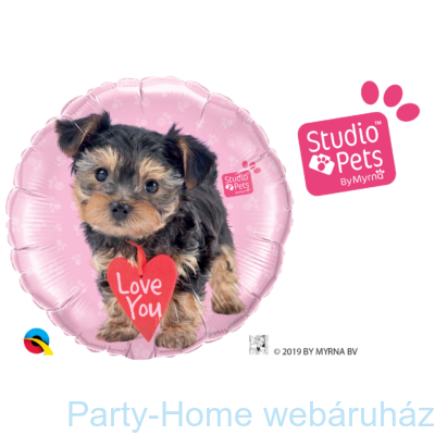 18 inch-es Studio Pets - Love You Terrier Fólia Lufi