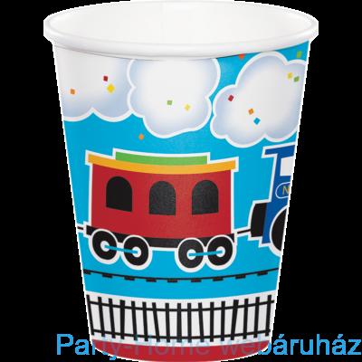 Tiny Train Party - Kisvasút Parti Pohár - 266 ml, 8 db-os
