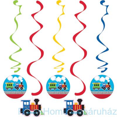 Tiny Train Party - Kisvasút Parti Függődekoráció 5 részes