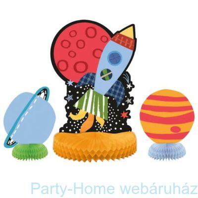 Space Party- Utazás a világűrbe Party - Asztaldekoráció 3 részes